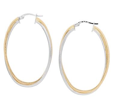 UNOAERRE 18K Yellow Gold Hollow Tube Hoop Earrings