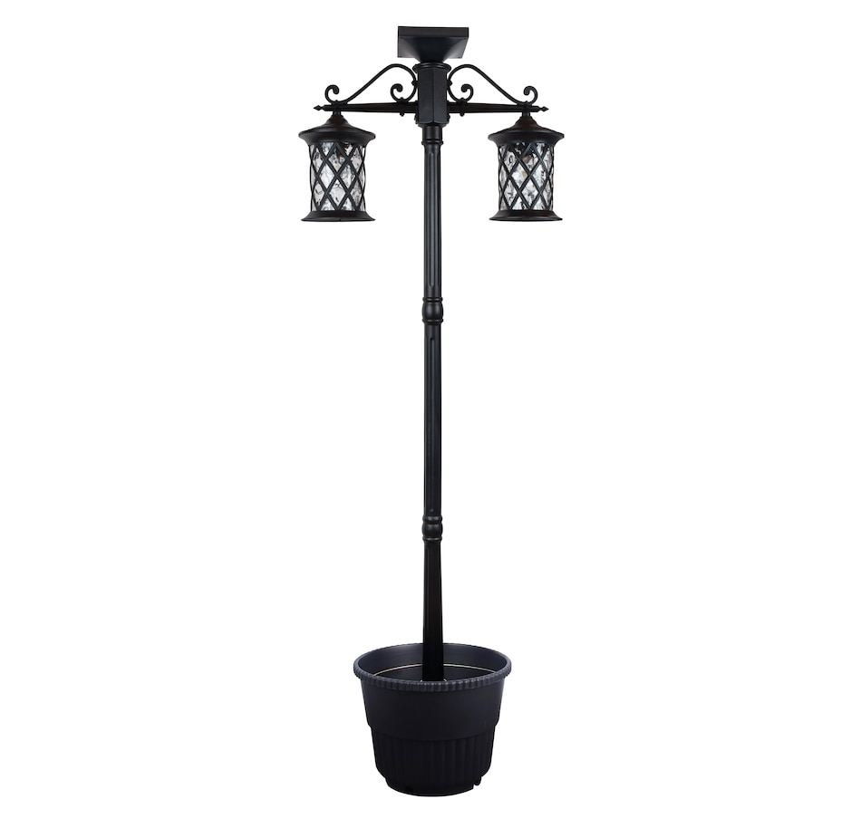 Image 490214.jpg , Product 490-214 / Price $189.33 , Fusion Two Head Solar Lamp Post with Planter from Fusion on TSC.ca's Home & Garden department