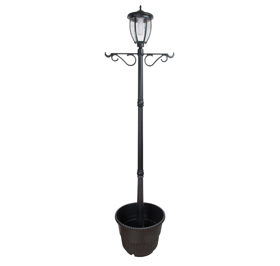 Image 490215.jpg , Product 490-215 / Price $114.33 , Fusion Solar Lamp Post with Planter from Fusion on TSC.ca's Home & Garden department
