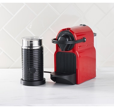 Nespresso Inissia Espresso Machine with Aeroccino and $25 Coffee Credit