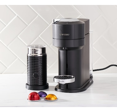 Nespresso Vertuo Next Coffee Espresso Machine with Aeroccino and $25 Coffee Credit