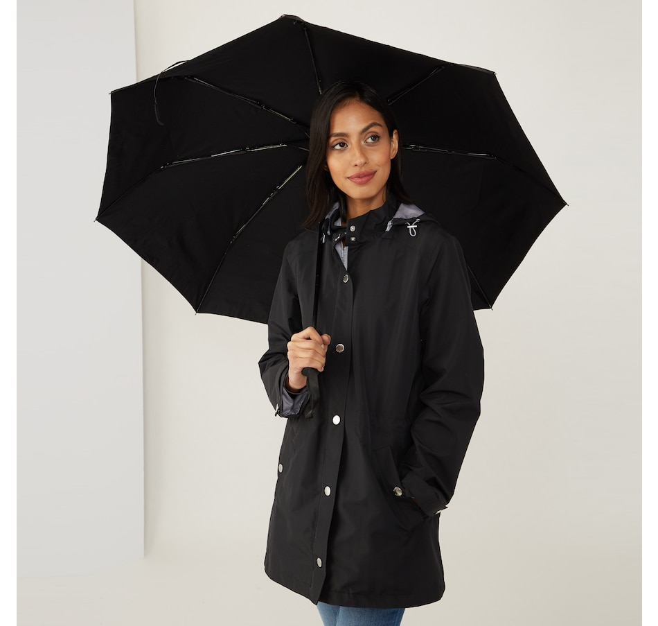 Image 490706_BLK.jpg , Product 490-706 / Price $125.00 , Nuage 2-Piece Invisiprint Coat & Umbrella from Nuage Outerwear - Alpha on TSC.ca's Fashion department