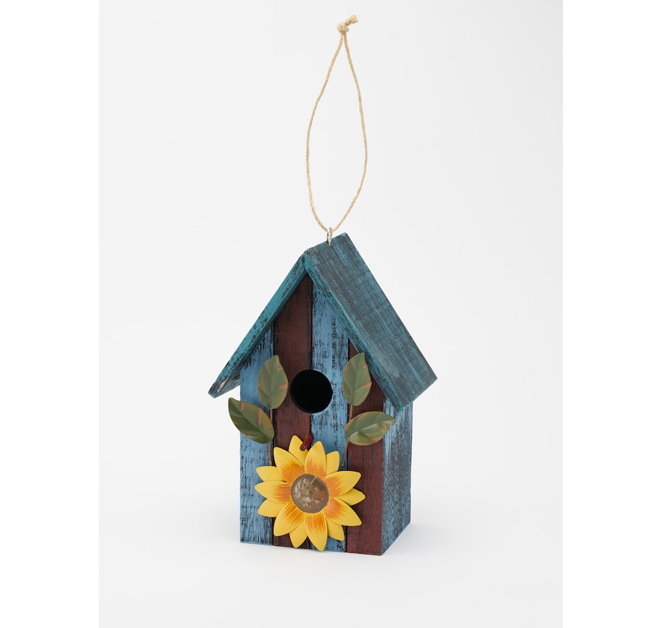 Image 490867.jpg , Product 490-867 / Price $15.33 , Wood Birdhouse With Metal Sunflower Accent  on TSC.ca's Home & Garden department