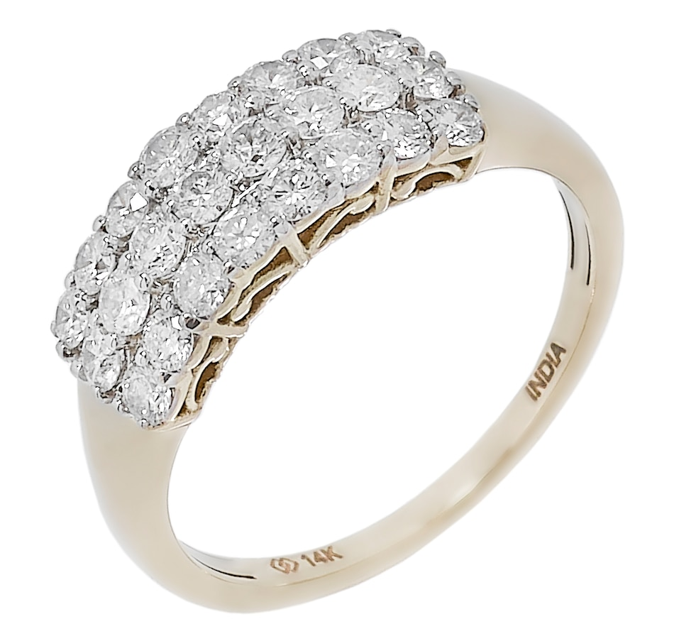 Image 491267_YG1CT.jpg , Product 491-267 / Price $1,019.99 - $2,019.99 , 14K Gold Multi Row Diamond Ring from Diamond Show on TSC.ca's Jewellery department