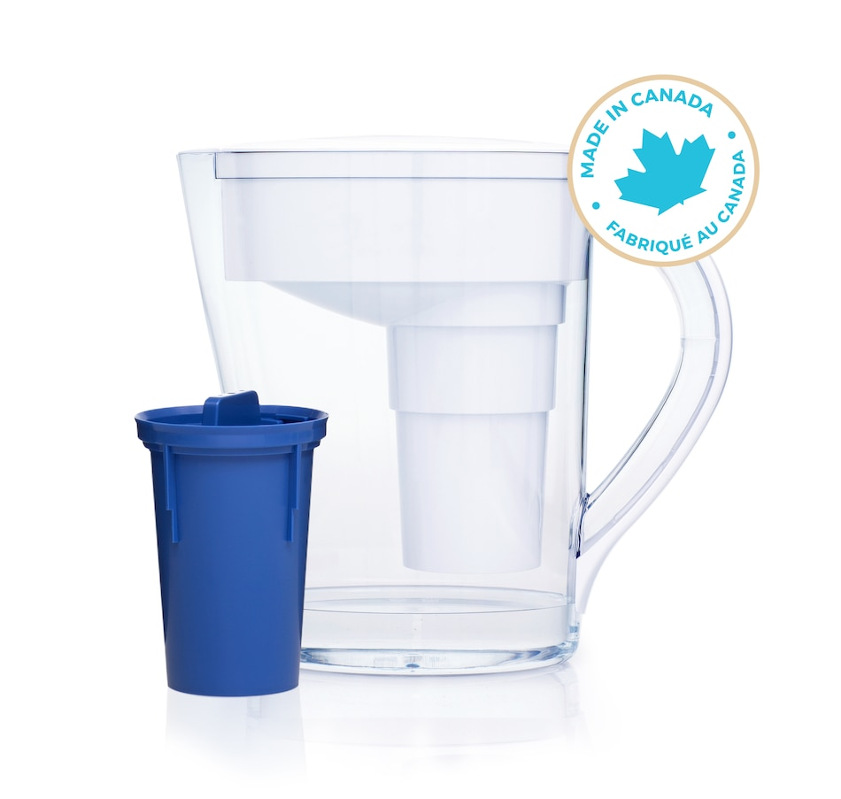 Image 491348_WHT.jpg , Product 491-348 / Price $49.99 , Santevia Mina Slim Alkaline Pitcher from Santevia on TSC.ca's Kitchen department