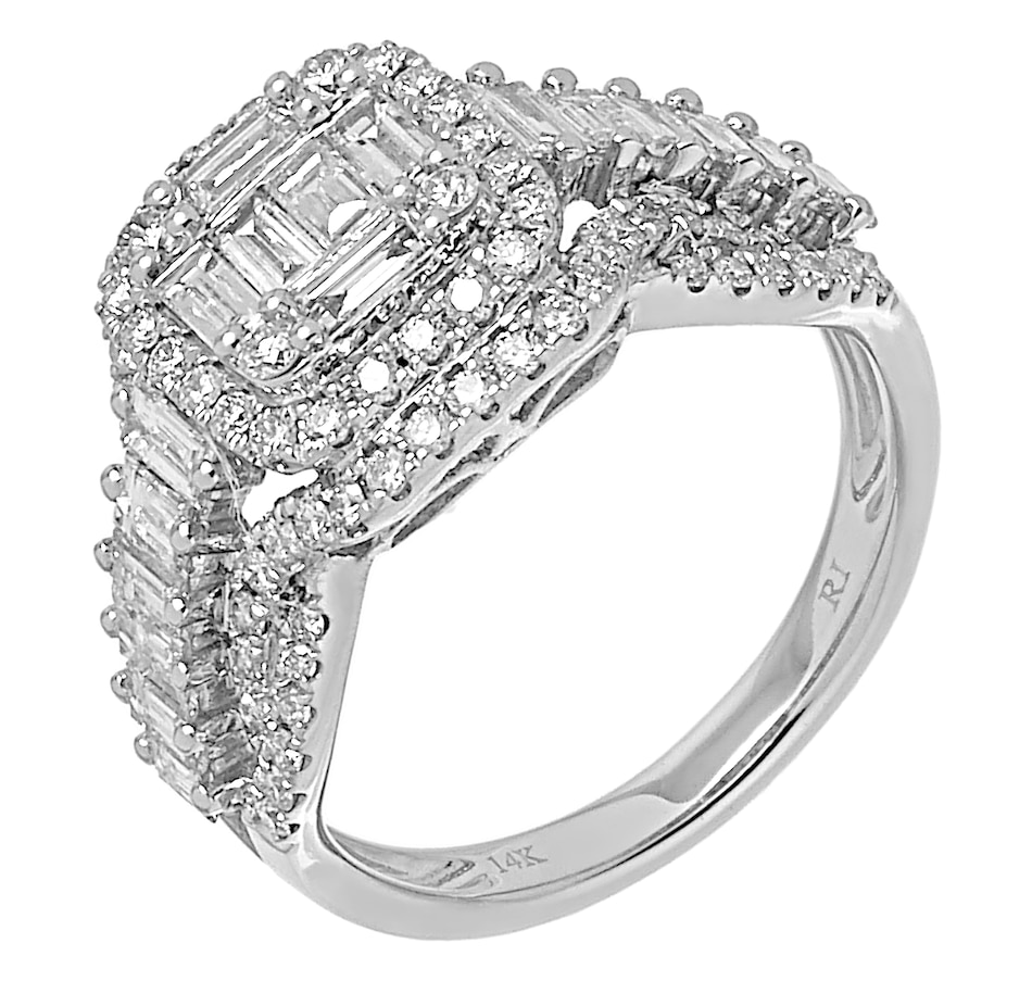 Image 491719.jpg , Product 491-719 / Price $2,699.88 , Diamond Show 14K White Gold Baguette and Round Diamond Ring from Diamond Show on TSC.ca's Jewellery department