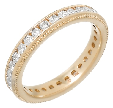 Diamond Show 14K Gold 1.00CTW Channel Set Diamond Eternity Band