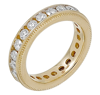 Diamond Show 14K Gold 2.00CTW Channel Set Diamond Eternity Band