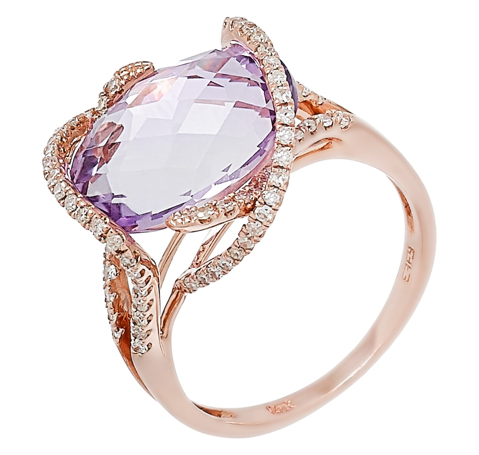 Image 491985.jpg , Product 491-985 / Price $1,299.99 , EFFY 14K Rose Gold Diamond & Pink Amethyst Ring from Effy Jewellery on TSC.ca's Jewellery department