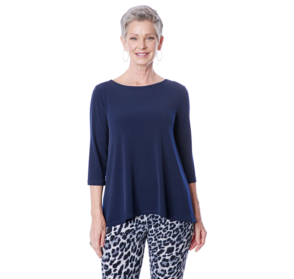 Image 492276_NVY.jpg , Product 492-276 / Price $69.99 , Kim & Co. Brazil Knit Wellness Top from Kim & Co. on TSC.ca's Fashion department