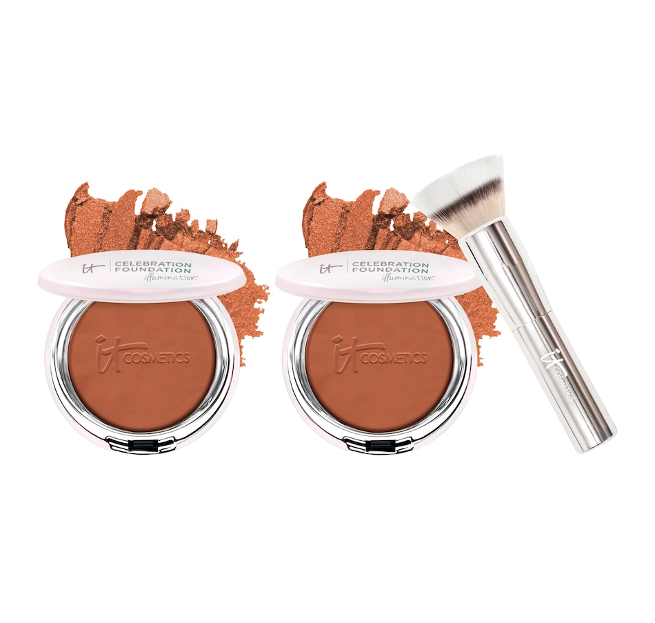Image 493221_DEE.jpg , Product 493-221 / Price $92.00 , IT Cosmetics Celebration Foundation Illumination Duo with Brush from Face on TSC.ca's Beauty department
