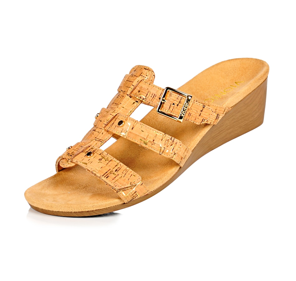Image 493808_GLDC.jpg , Product 493-808 / Price $39.33 , VIONIC with ORTHAHEEL Radia Demi-Wedge Slide Sandal  on TSC.ca's Wedges department