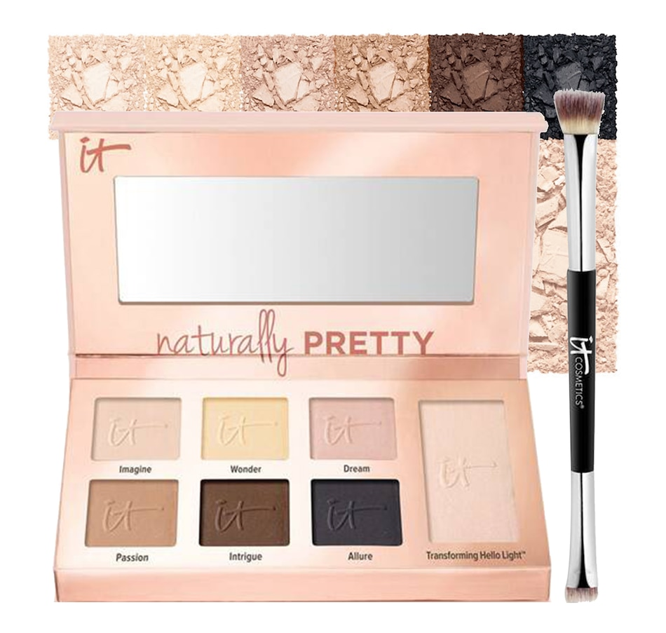 Image 495032.jpg , Product 495-032 / Price $65.00 , IT Cosmetics Naturally Pretty Essentials Eyeshadow Palette with No-Tug Brush from It Cosmetics on TSC.ca's Beauty department