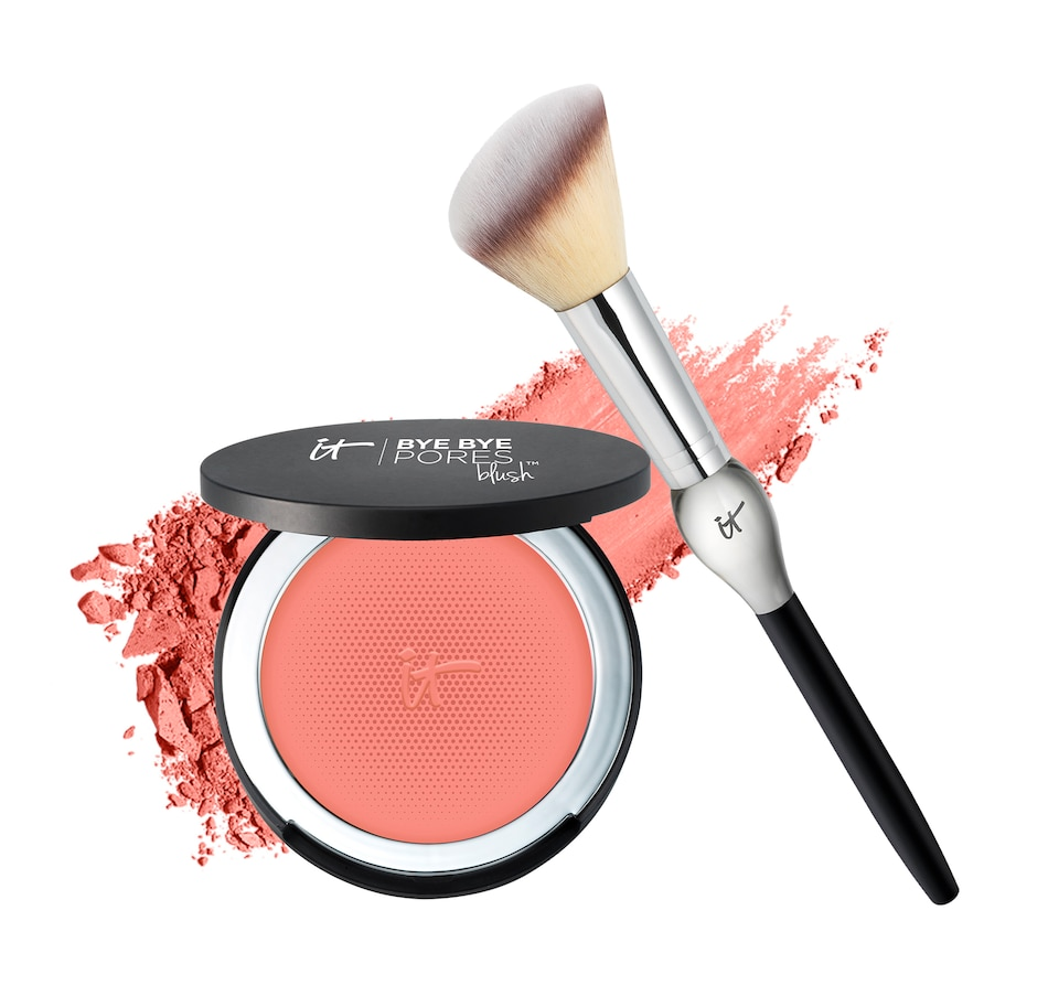 Image 496277_NPY.jpg , Product 496-277 / Price $45.00 , IT Cosmetics Bye Bye Pores Anti-Aging Silk Pressed Blush with Brush from It Cosmetics on TSC.ca's Beauty department
