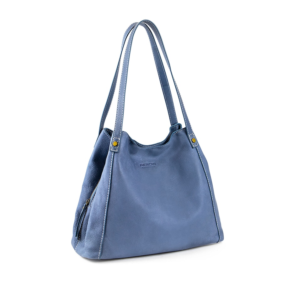Image 496910_BLU.jpg , Product 496-910 / Price $189.99 , American Leather Co. Liberty Leather Shopper from American Leather Co. on TSC.ca's Shoes & Handbags department