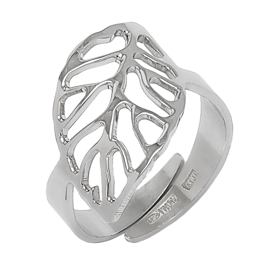 Image 497125_RHOP.jpg , Product 497-125 / Price $59.99 , Silver Gallery Sterling Silver Leaf Adjustable Ring from Silver Gallery on TSC.ca's Jewellery department