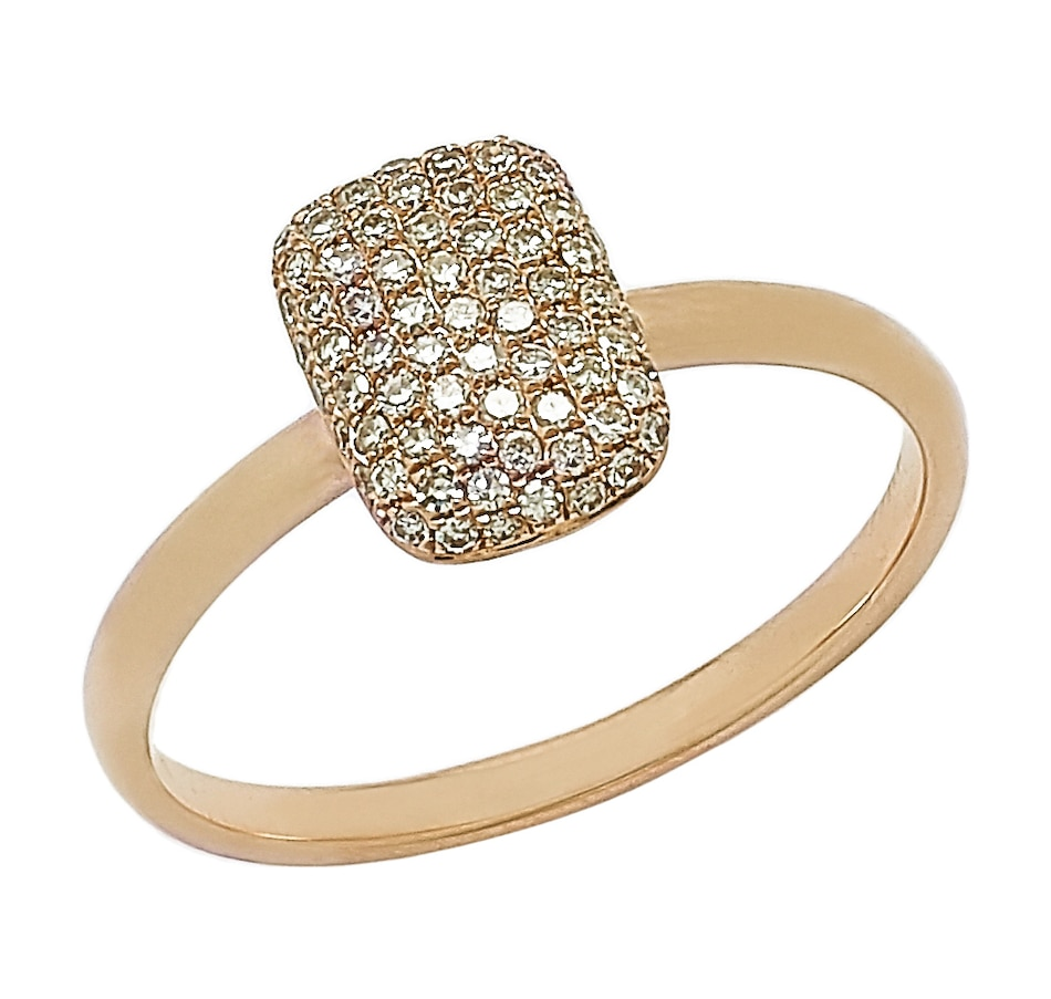 Image 497256_YGL.jpg , Product 497-256 / Price $306.88 , 14K 0.25 ctw Diamond Pave Set Ring from Diamond Show on TSC.ca's Jewellery department