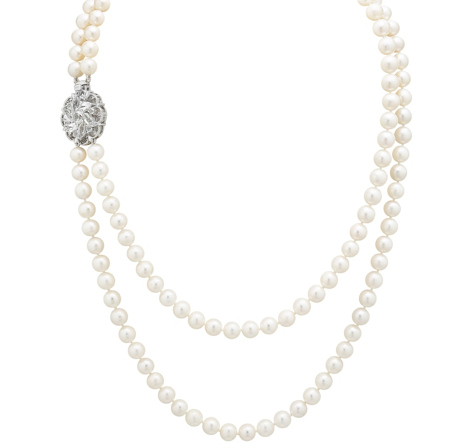 Image 497572_WHT.jpg , Product 497-572 / Price $399.99 , Imperial Pearls Sterling Silver 7.5-8.5 mm Cultured Freshwater Pearl Layered Necklace from Imperial Pearls on TSC.ca's Jewellery department