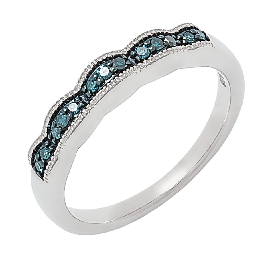 Image 497608_BLU.jpg , Product 497-608 / Price $69.99 , Colours of Diamonds Sterling Silver Coloured Diamond Ring from Colours of Diamonds on TSC.ca's Jewellery department