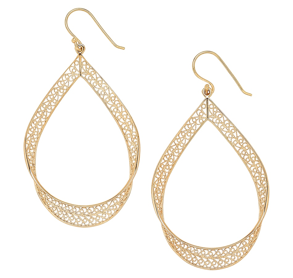 Image 497627.jpg , Product 497-627 / Price $69.99 , Jewellery Of The Grand Bazaar Large Filigree Ribbon Drop Earrings from Jewellery of the Grand Bazaar on TSC.ca's Jewellery department