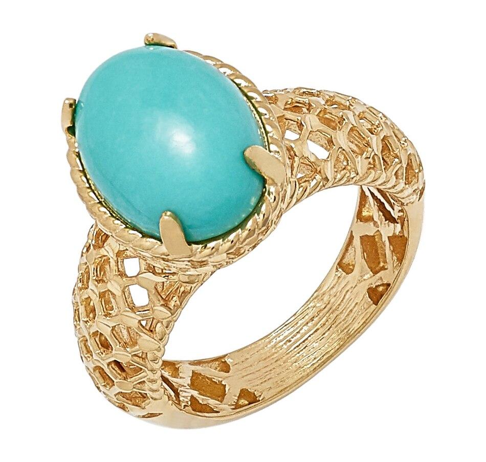 Image 497631_TRQ.jpg , Product 497-631 / Price $74.33 , Jewellery of the Grand Bazaar Diamond Cut Mesh Ring from Jewellery of the Grand Bazaar on TSC.ca's Jewellery department