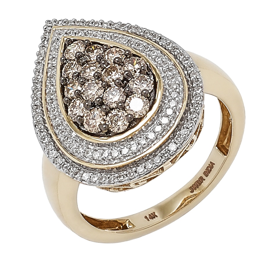 Image 497865_PEAR.jpg , Product 497-865 / Price $1,299.99 , 14K Yellow Gold 1.00 ctw Diamond Ring from Diamond Show on TSC.ca's Jewellery department