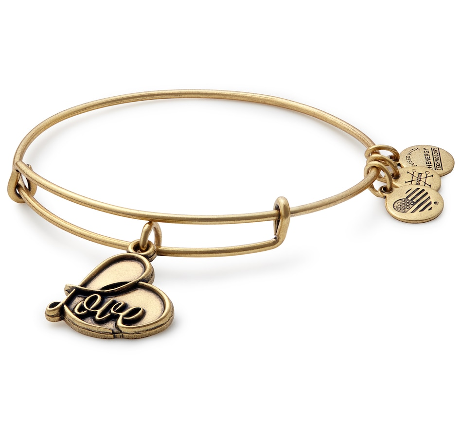 Image 497909_GLD.jpg , Product 497-909 / Price $34.00 , Alex and Ani Love Adjustable Bracelet from Alex and Ani on TSC.ca's Jewellery department