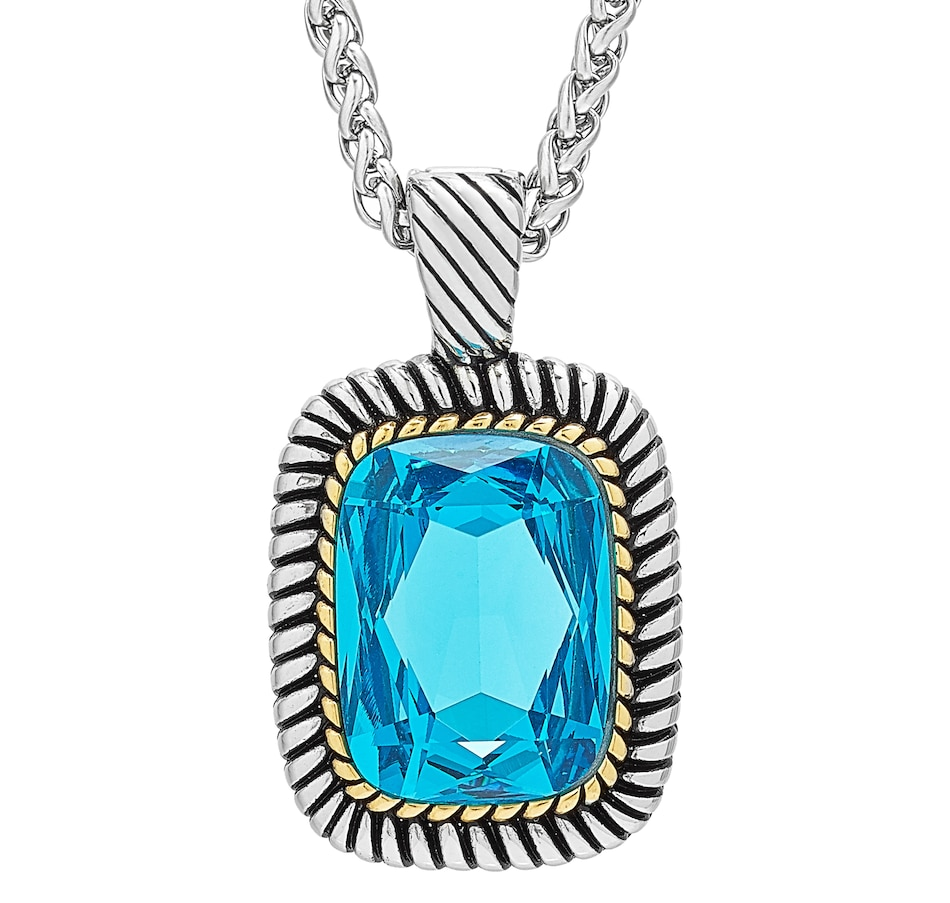 Image 498160.jpg , Product 498-160 / Price $29.99 , Emma Skye Blue Topaz Crystal Enhancer Pendant with Chain from Emma Skye Jewelry on TSC.ca's Jewellery department
