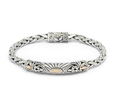 Samuel B. Collection Sterling Silver & 18K Gold Accent Balinese Design Bracelet