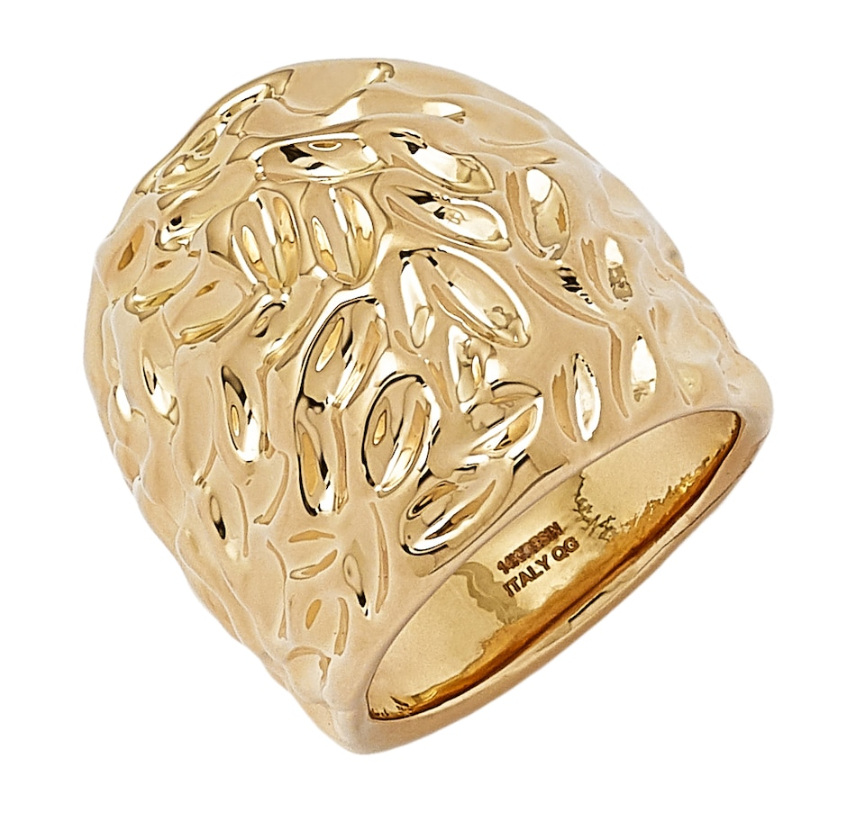 Image 498348.jpg , Product 498-348 / Price $199.88 , Res'Oro 14K Italian Gold Electroform Textured Ring from Res'Oro on TSC.ca's Jewellery department