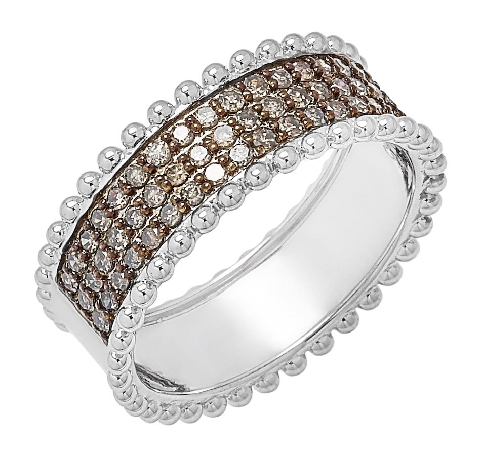 Image 498357_CHM.jpg , Product 498-357 / Price $129.88 , Colours of Diamonds Sterling Silver Diamond Band from Colours of Diamonds on TSC.ca's Jewellery department