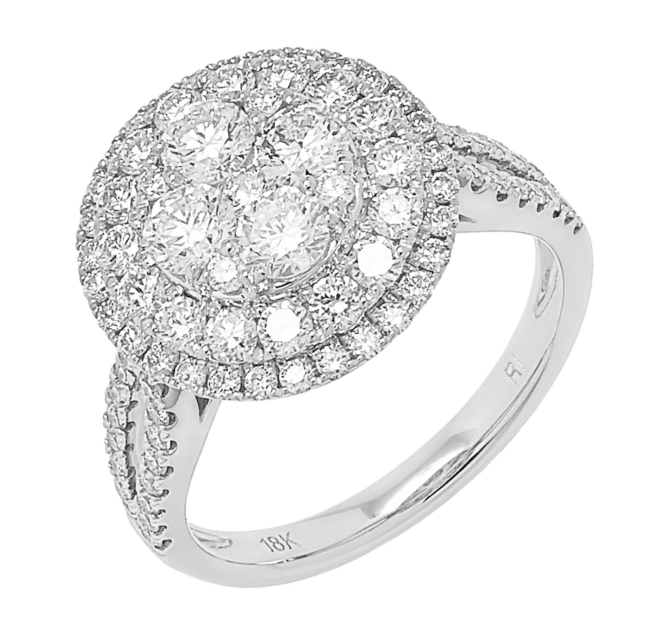 Image 498491.jpg , Product 498-491 / Price $3,699.99 , 18K White Gold Diamond Cluster Ring from Diamond Show on TSC.ca's Jewellery department