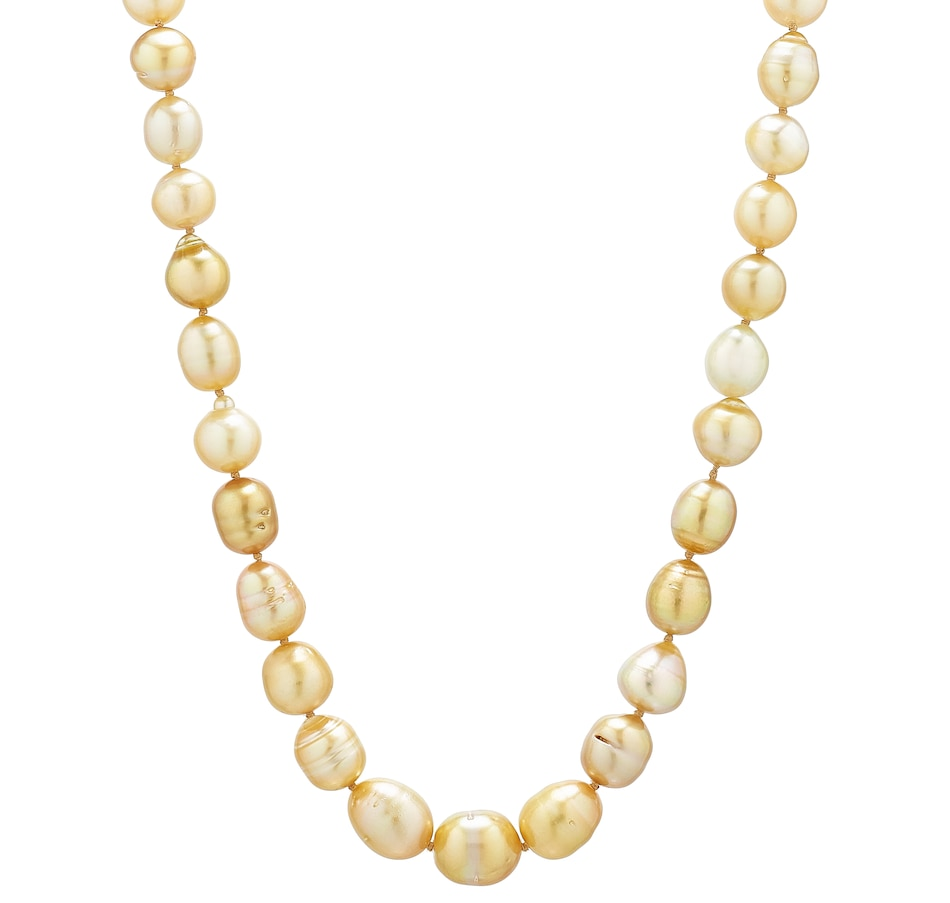 """Image 498636_YGGSS.jpg , Product 498-636 / Price $2,200.00 , Imperial Pearls 18"""" 14K Golden South Sea Pearl Necklace or 18"""" 14K Tahitian Pearl Necklace from Imperial Pearls on TSC.ca's Jewellery department"""