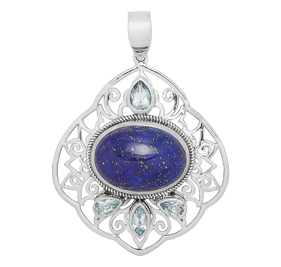 Image 498679_LAPBT.jpg , Product 498-679 / Price $49.99 , Himalayan Gems Sterling Silver Multi Gemstone Pendant from Himalayan Gems on TSC.ca's Jewellery department