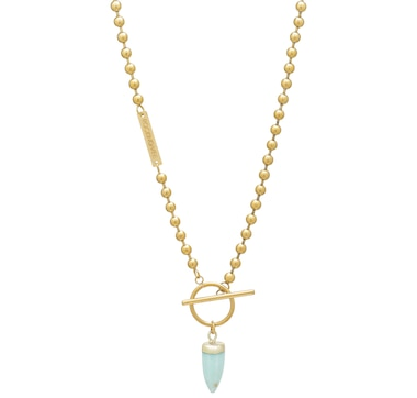 Rocking Vibe 18K Gold-Plated Ball Chain Necklace with Artemis Pendant