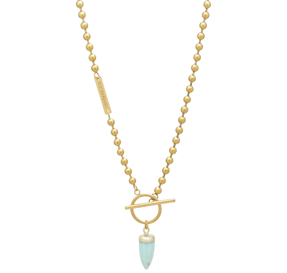 Image 498832_CHRY.jpg , Product 498-832 / Price $87.33 , Rocking Vibe 18K Gold-Plated Ball Chain Necklace with Artemis Pendant from Rocking Vibe on TSC.ca's Jewellery department