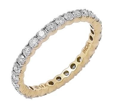 14K Gold Diamond Eternity Band