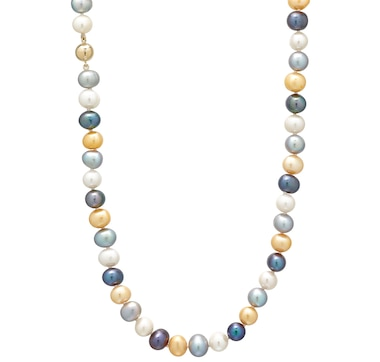 Roz Kwan Jewellery Sterling Silver 9-10mm Dyed Freshwater Pearl Necklace