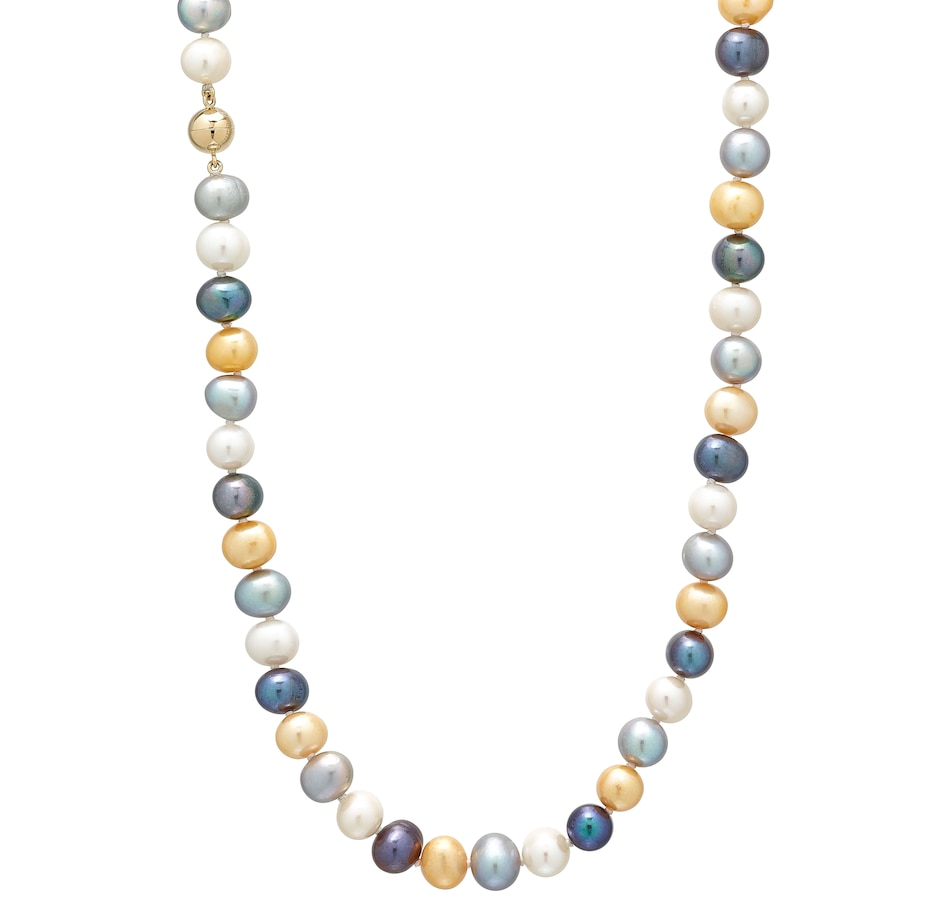 Image 499087.jpg , Product 499-087 / Price $124.00 , Roz Kwan Jewellery Sterling Silver 9-10mm Dyed Freshwater Pearl Necklace from Roz Kwan Jewellery Collection on TSC.ca's Jewellery department