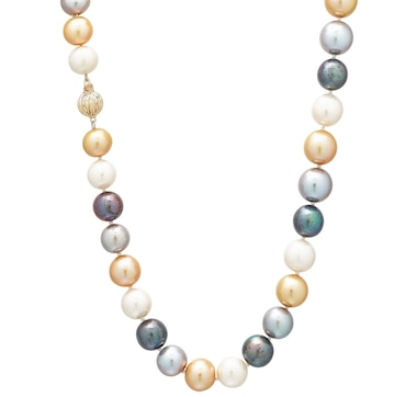 Roz Kwan Jewellery 14K Yellow Gold 11-13 mm Multi Coloured Freshwater Pearl Necklace