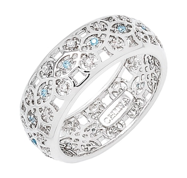Grace Kelly - Princess of Monaco Collection Scandinavian Rhodium Plated Wedding Ring