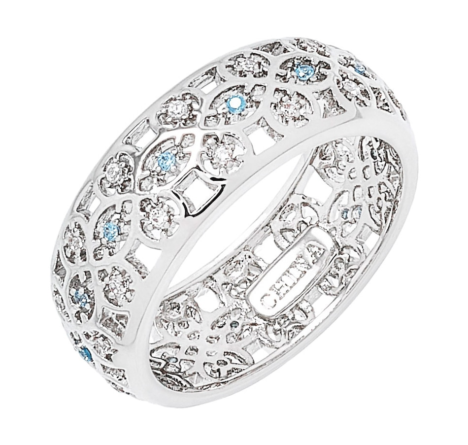 Image 499473_SIL.jpg , Product 499-473 / Price $55.00 , Grace Kelly - Princess of Monaco Collection Scandinavian Rhodium Plated Wedding Ring from Grace Kelly - Princess of Monaco Collection on TSC.ca's Jewellery department