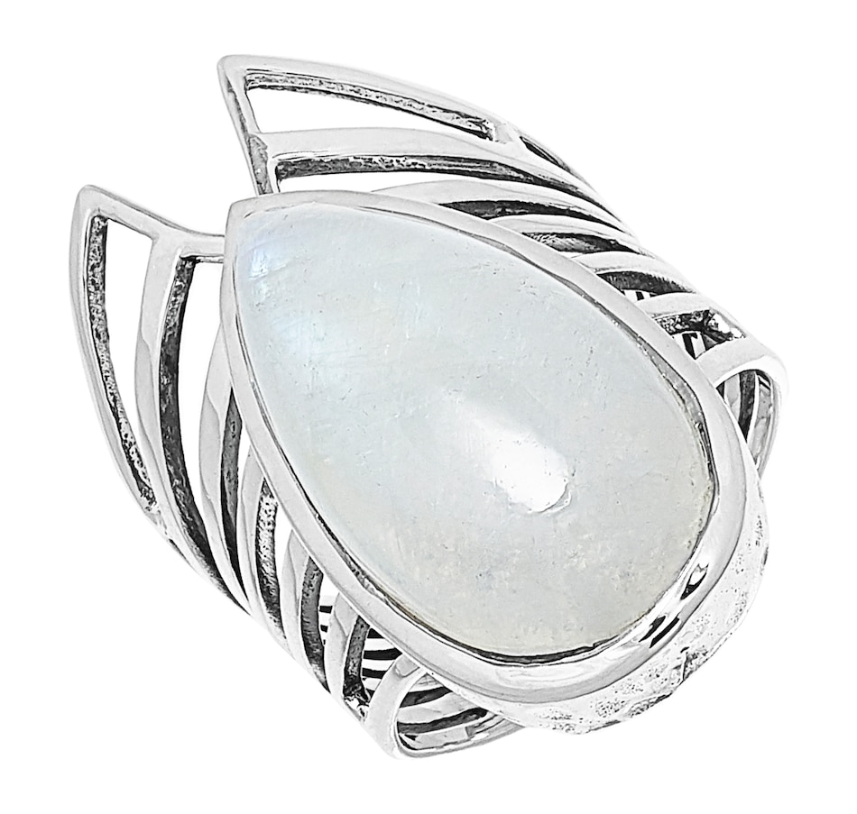 Image 499502_RWM.jpg , Product 499-502 / Price $89.99 , Himalayan Gems Sterling Silver Pear Shape Cabochon Gemstone Ring from Himalayan Gems on TSC.ca's Jewellery department