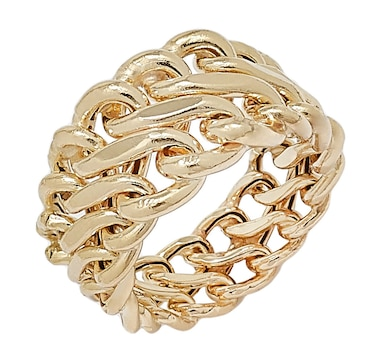 Stefano Oro 14K Yellow Gold Graduated Infinity Ring