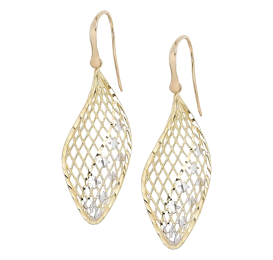 Image 499547_TTO.jpg , Product 499-547 / Price $399.88 , Stefano Oro 14K Yellow Gold Lace with Stars Drop Earrings from Stefano Oro on TSC.ca's Jewellery department