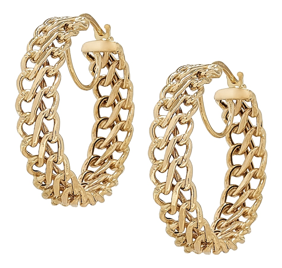 Image 499558_YGL.jpg , Product 499-558 / Price $529.99 , Stefano Oro 14K Yellow Gold Infinity Hoop Earrings from Stefano Oro on TSC.ca's Jewellery department