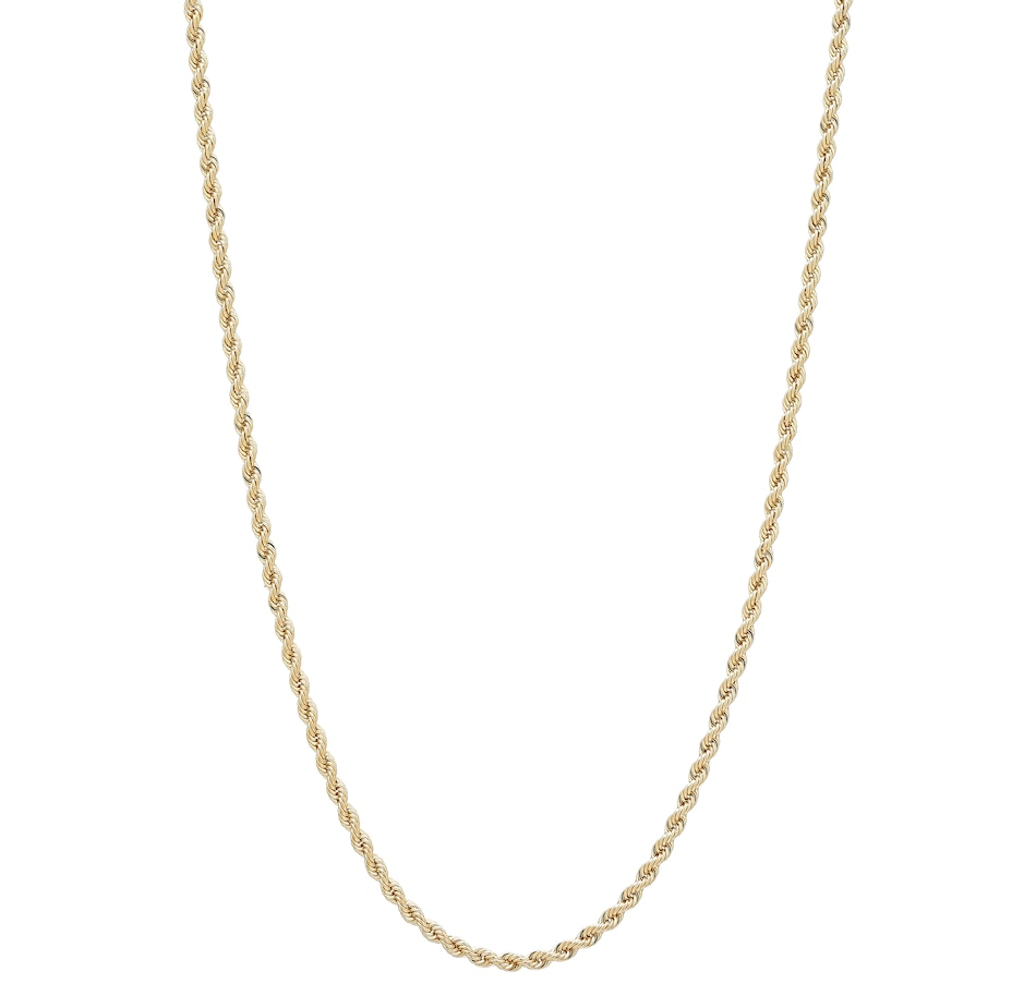 Image 499900.jpg , Product 499-900 / Price $899.99 - $1,199.99 , UNOAERRE 18K Yellow Gold Wide Rope Chain from UnoAErre Jewellery on TSC.ca's Jewellery department