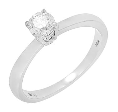 Inspire Diamonds 14K White Gold Diamond Solitaire Ring