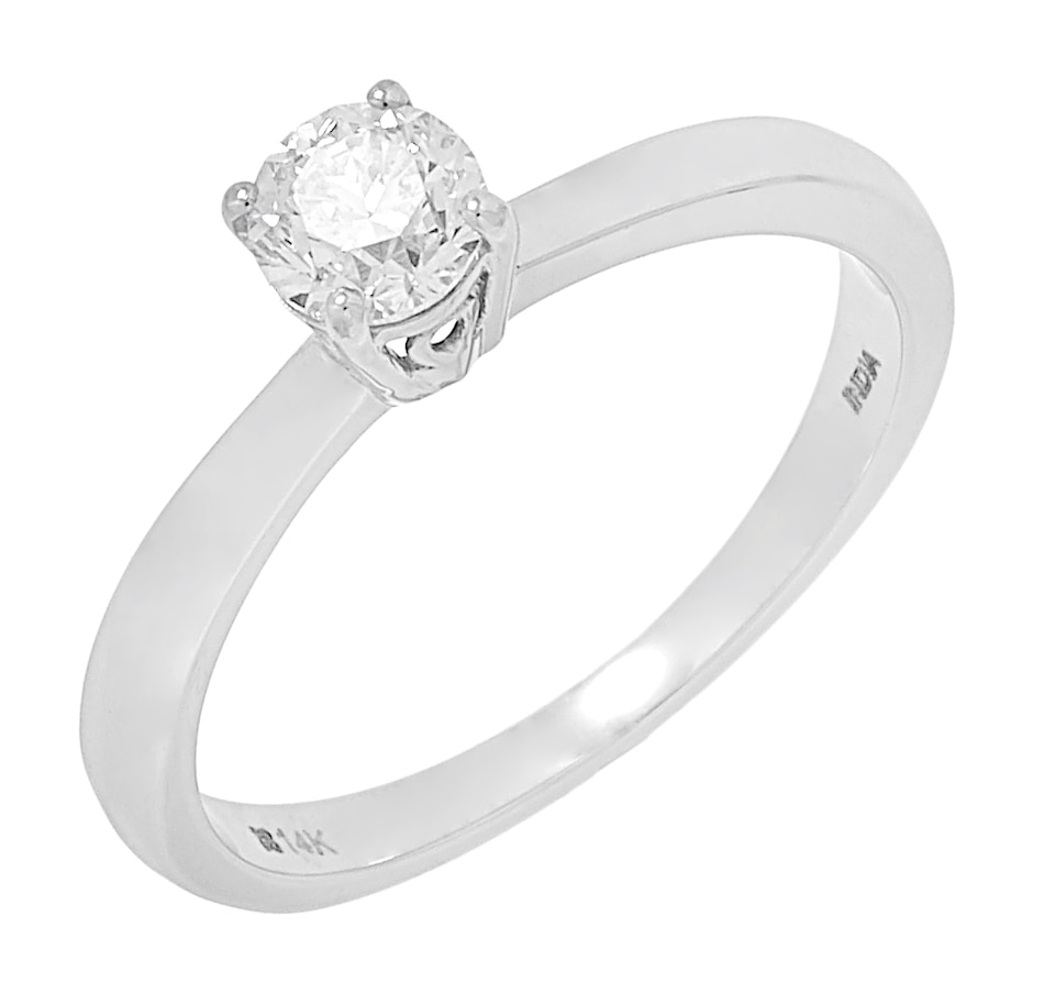 Image 500012.jpg , Product 500-012 / Price $2,799.99 , ethique Diamonds 14K White Gold Diamond Solitaire Ring from éthique on TSC.ca's Jewellery department