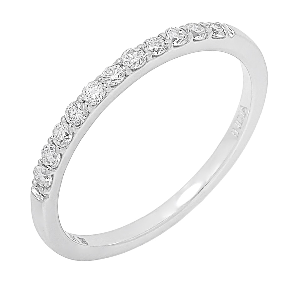 Image 500043_P25CT.jpg , Product 500-043 / Price $599.99 - $999.99 , ethique Diamonds 14K White Gold Diamond Band Ring from éthique on TSC.ca's Jewellery department